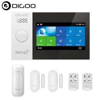 DIGOO DG-HAMB GSM Smart Home Security Alarm System Kits Touch Screen APP Control Motion Detector Sensor Burglar Alarm System
