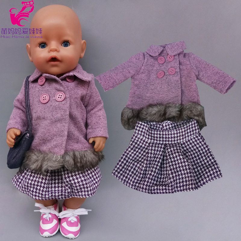 Doll Dress Spring Fairy Lace Dress for 43cm <font><b>New</b></font> <font><b>Born</b></font> Baby Doll 18 Inch Doll Clothes <font><b>Toys</b></font> Wear image