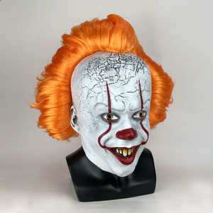 Image 2 - Horror Pennywise Joker Mask Cosplay it capitolo 2 Clown maschere in lattice Costume di Halloween puntelli Deluxe
