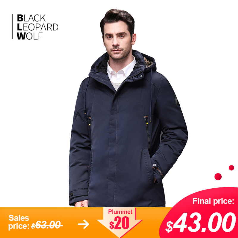Blackleopardwolf 2019 New Arrival Winter Jacket  Men Fasion Coat Thik Parka Windproof Detachable Outwear Luxury With Fur BL-1001