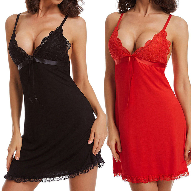 S-3XL Sexy Lingerie Hot Women Porno Costumes Lace Underwear Sex Clothes Babydoll Erotic Lenceria Sexi Dress Nightwear Plus Size 1