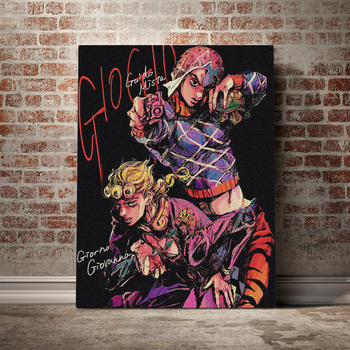 Modular Hd Prints Giorno Giovanna Picture Home Decor Jojo S Bizarre Painting Anime Role Canvas Poster Wall Art For Bedroom Frame