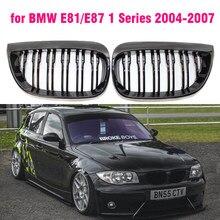 Preto brilhante m estilo corrida grills esporte grade de rim grill para bmw série 1 2004-07 e87 e81