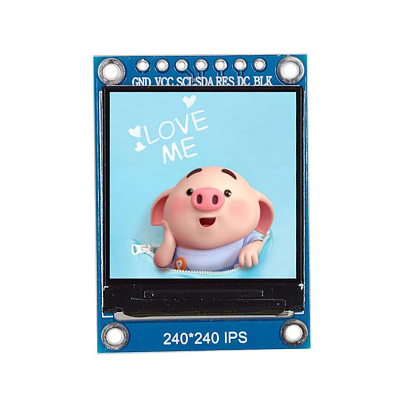 1.3 Inch Ips Hd Tft St7789 Drive Ic 240 X 240 Spi Communication 3.3V Voltage Spi Interface Full Color Tft Lcd Display