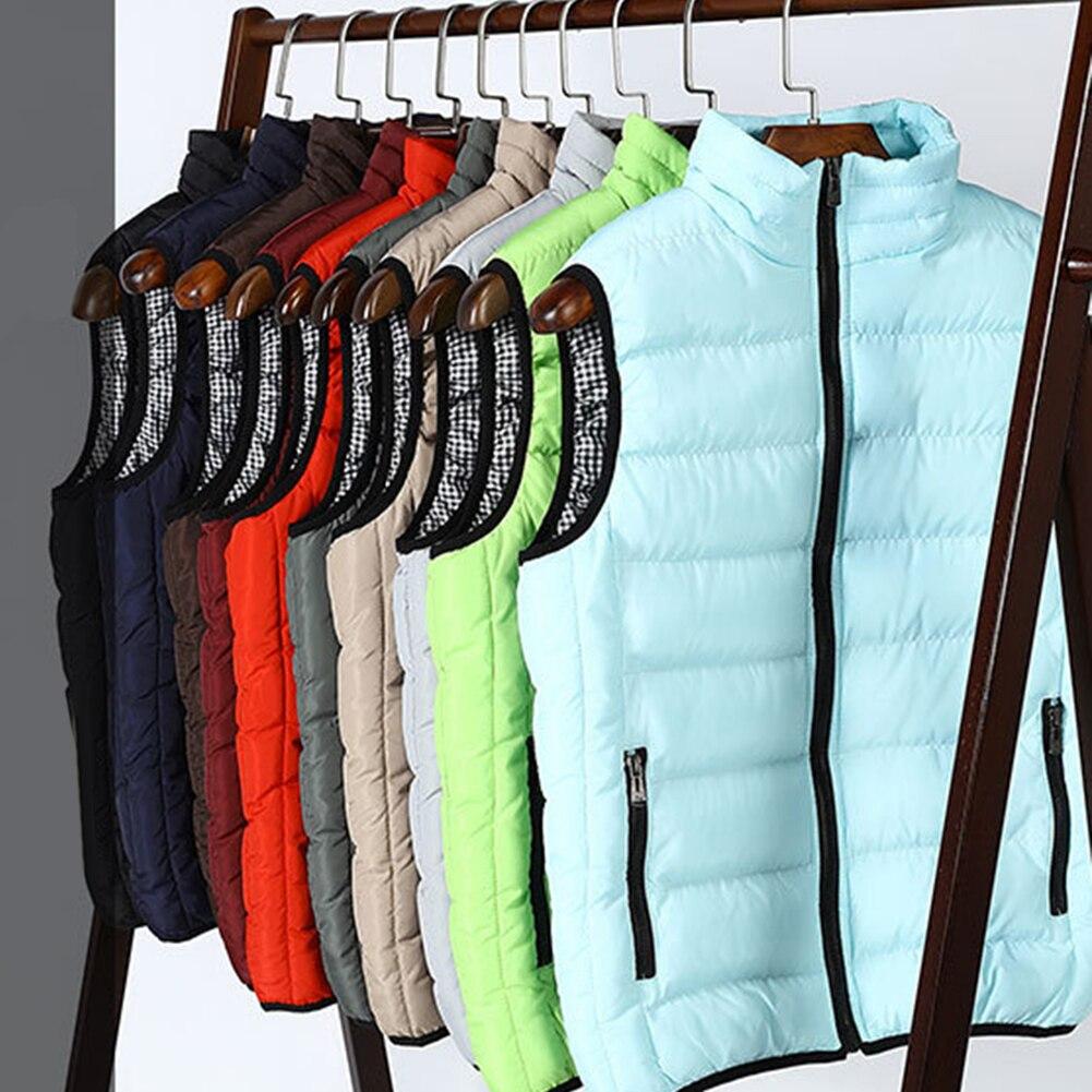 Vest Men Cotton Coat Fashion Contrast Color Plaid Vest Jacket Winter Thick Warm Casual Large Size  Zipper Mens Jacket