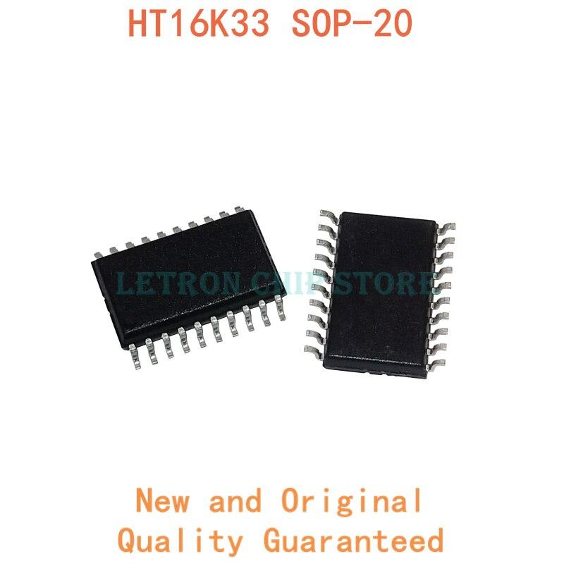 10 pièces HT16K33 SOP-20 SOP20 7.2MM SOIC-20 SOIC20 SMD nouveau et original jeu de puces IC