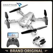 Snaptain aa10mq mini zangão dobrável com 720p hd câmera fpv wifi rc quadcopter controle de voz 3d flips helicóptero 2 tempo de vôo