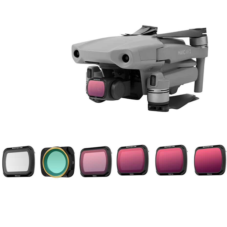 For DJI Mavic Air 2 Filter Accessories Adjustable Neutral Density Polar CPL For DJI Mavic2 Air Drone Filters Protector Case Set