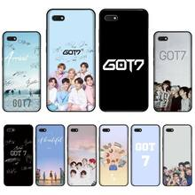 Boy Group Kpop GOT7 Cover Black Soft Shell Phone Case For Huawei Honor 7C 7A 8X 8A 9 10 10i Lite 20 NOVA 3i 3e for huawei honor mate 7c 7a 8 8x 9 9n 10 20 nova 3 3e 3i pro lite black silicon phone case adventure time style