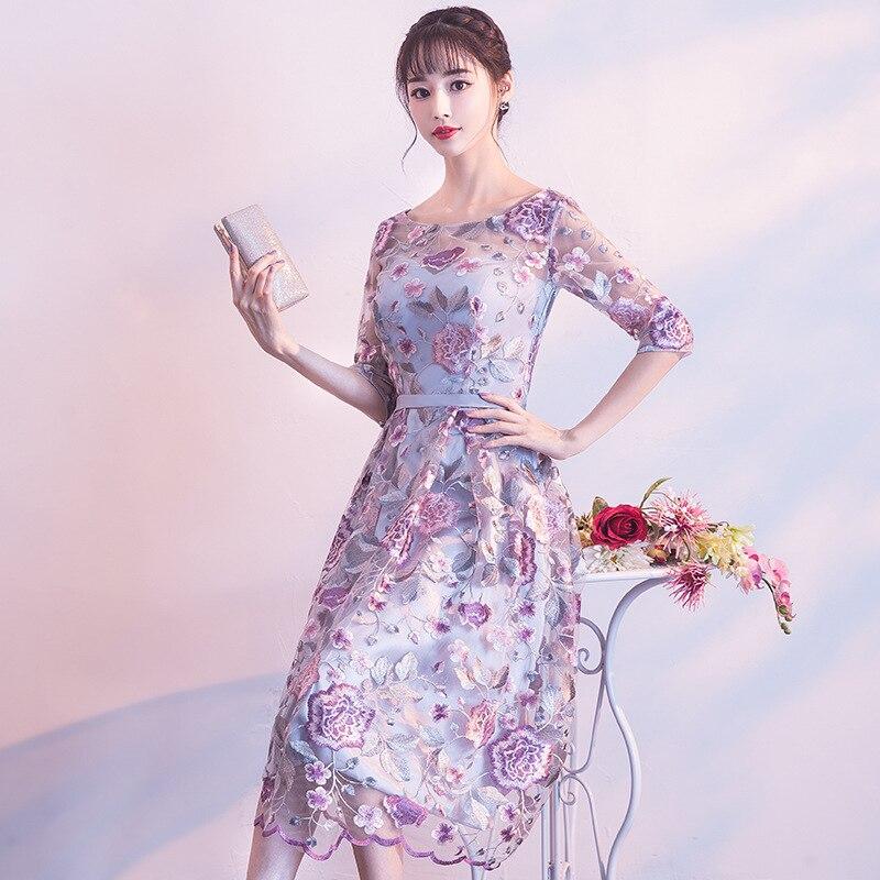 Deal–DongCMY New Short Formal Dresses Flowers Vestdios Bride Elegant Wedding Party Dress