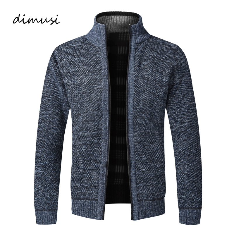 DIMUSI Men's Sweaters Winter Men Thick Warm Knitted Sweater Jackets Cardigan Coats Male Casual Slim Fit Knitted Clothing