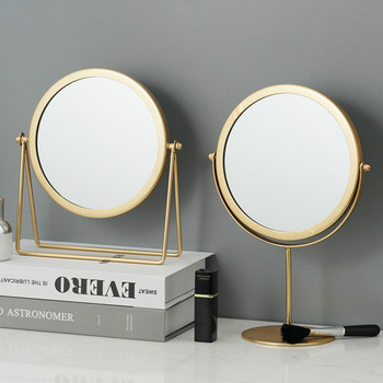 Metal Decorative Mirror Lady Desktop Makeup Mirror Crafts Dimensional Home Decor Accessories    WJ021710 1