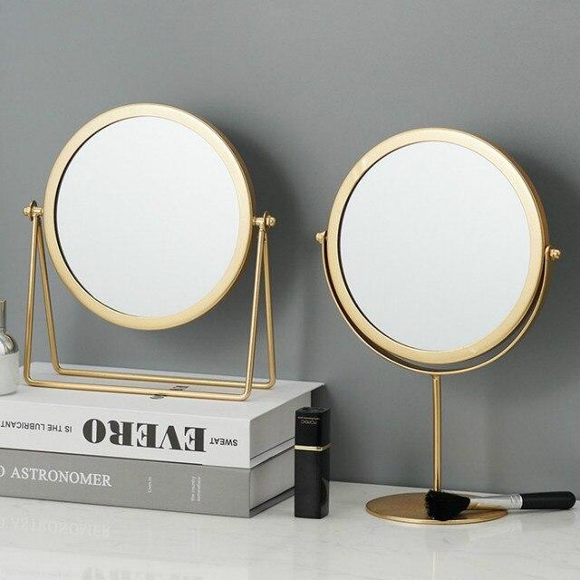 Metal Decorative Mirror Lady Desktop Makeup Mirror Crafts Dimensional Home Decor Accessories    WJ021710 1