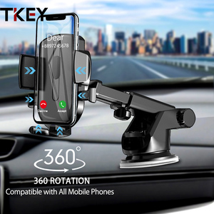 TKEY Sucker Car Phone Holder Stand For iPhone 11 Pro Xiaomi redmi Samsung Air vent Mobile Phone Holder GPS Mount Support in car