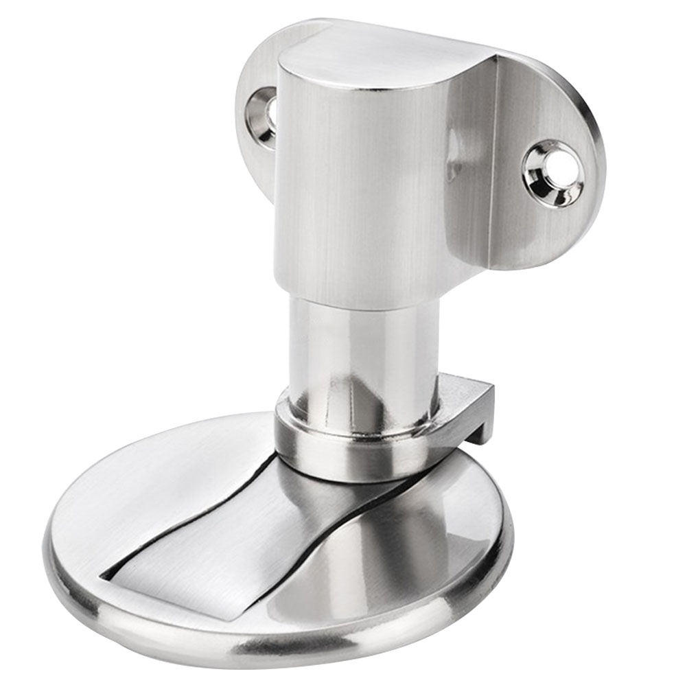 Floor Adjustable Security Anti Collision Mute Stainless Steel Knob Buffer Nailless Inner Shockproof Strong Magnetic Door Stop
