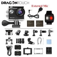 Dragon Touch 4K EIS Экшн-камера 16MP Vision 4 Поддержка внешнего микрофона подводная камера с дистанционным управлением WiFi Спортивная камера