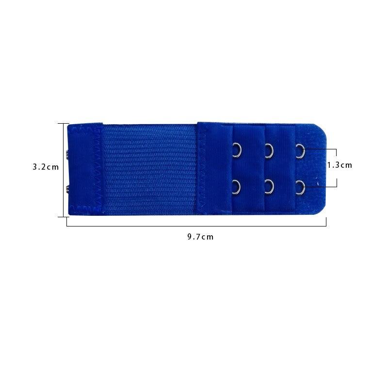 1 шт., удлинитель для бюстгальтера, удлинение пряжки, 3 ряда, 2 крючка, застежка, ремни, женский ремень для бюстгальтера, удлинитель, инструмент для шитья, аксессуары для интима - Цвет: Синий