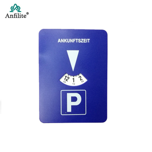 Car Parking Disc Timer Clock Arrival Time Display Blue ABS Plastic Parking Time Tools Auto parts
