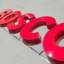 Dostosowane LED litery kanałowe czerwone malowane Luminous Signage ze stali nierdzewnej akrylowe reklamy Shopfront Enterprise wodoodporne tanie tanio shsuosai CN (pochodzenie) ss-133