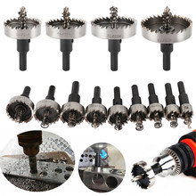 13PCS HSS Drill Bit Set High Speed Steel Carbide Tip Hole Saw Tooth Cutter Metal Drilling Hand Woodwork Cutting Carpentry Crowns(China)