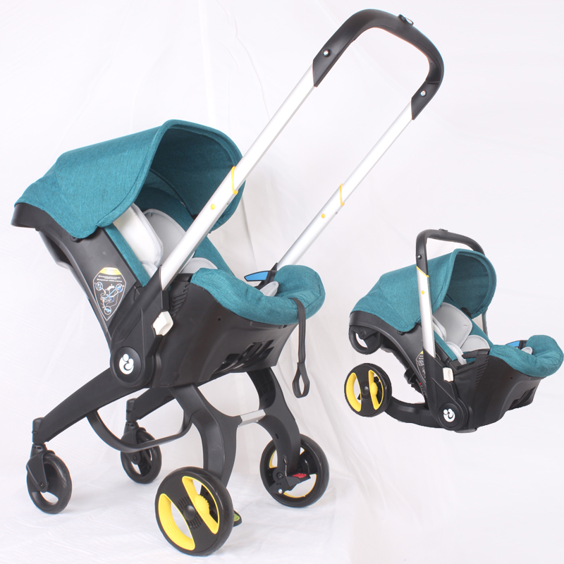 Free Shiping 4 In 1 Newborn Baby Carriage Baby Car Safety Seat Aluminum Alloy Stroller Portable Travel System Baby Stroller