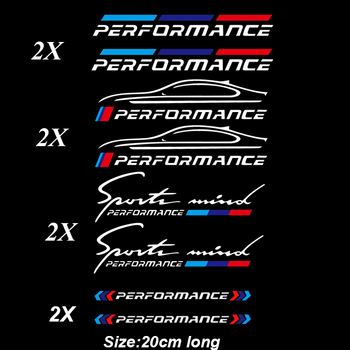 2pcs M Power Performance Car Windows Sticker KKVinyl for Bmw E36 E39 E46 E60 E61 E64 E70 E71 E85 E87 E90 E83 F10 F20 F21 F30 E80 image
