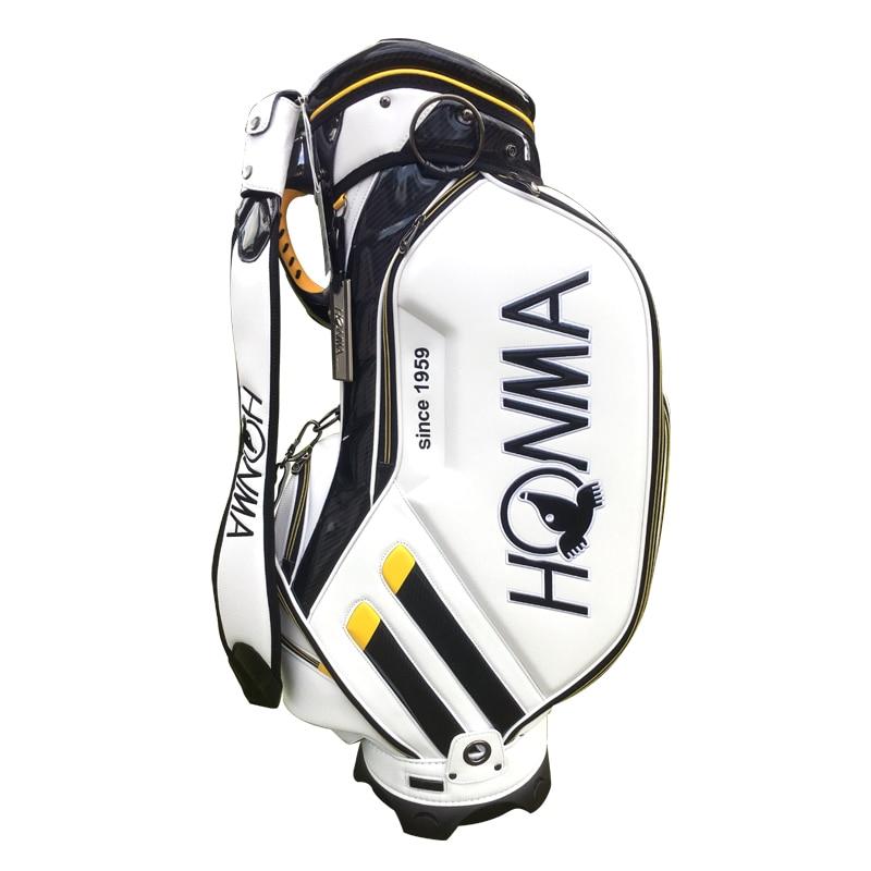 Nouveau sac de Golf HONMA PU sac de clubs de Golf au choix 9 pouces paquet de balle Standard sac de chariot de Golf Cooyute livraison gratuite