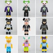 Bearbricks lys Trend 28cm 400% Bear & bricks lys Building Blocks orso giocattolo Anime Action Figures kit Pop Paint Dolls giocattoli per bambini