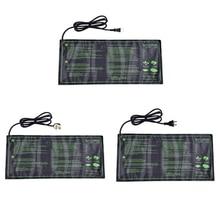 Подогреваемый коврик для рассады, водонепроницаемый прочный коврик для прорастания, теплый гидропонный нагревательный коврик для растений, грелка для питомца