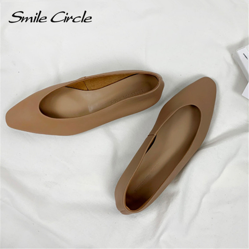 Women Flat Shoes Slip On Fashion Asakuchi Low-Heel Pointed-Toe Ladies Shoes Spring Summer Shoes