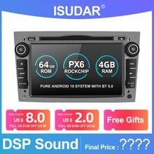 Isudar PX6 2 Din Android 10 автомобильный мультимедийный плеер GPS DVD для OPEL/ASTRA/Zafira/Combo/Corsa/Antara/Vivaro авто радио FM DSP DVR