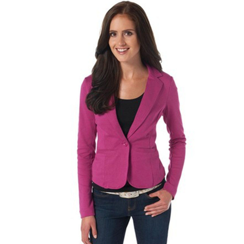 Autumn Women's Spring Jacket Slim Fit Women Blazers And Jackets Office Work Single Button Blazer Feminino Candy Color YQ093