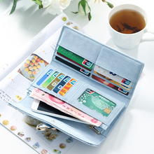 New Retro Matte Tri-fold Womens Wallet Embroidered Line Ladies Purse PU Fashion Multi-Function Buckle Card Holder 2019