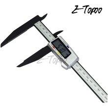 300mm 200 eletrônico digital caliper lcd plástico vernier pinça longa mandíbula micrômetro interno exterior medidor de diâmetro ferramentas de medição