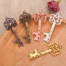 5 uds con forma de llave llavero con abrebotellas en forma de aleación de Zinc de oro rosa anillo de botella de cerveza abridor creatividad única regalo Abridor de cerveza