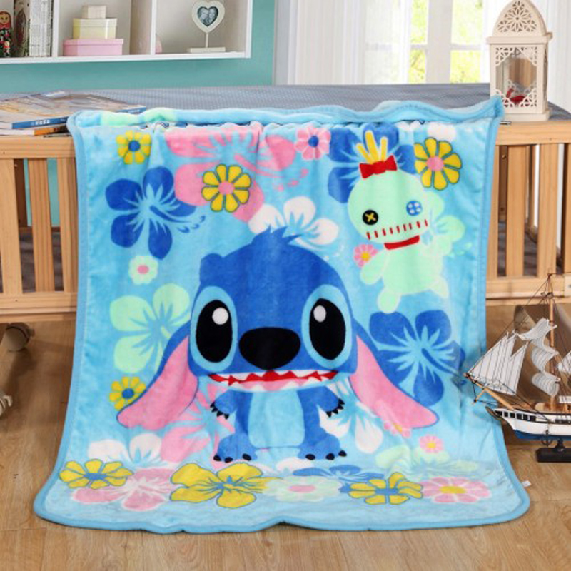 Disney Cute Lilo & Stitch Simba Spiderman Mickey Blankets Throw 70x100cm Soft Blankets For Pet Dog Cat Baby Child Sleeping