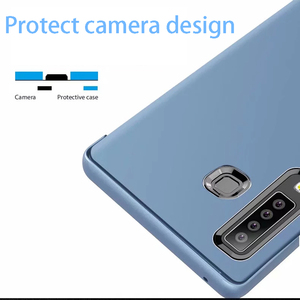 Image 5 - Inteligentne lusterko etui z klapką do Samsung Galaxy S10 Lite S9 S8 S7 krawędzi A8 A9 A7 A5 A6 Plus 2018 A10 a20 A30 A40 A50 A80 A90 A70 pokrywa