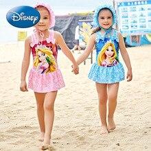 Disney Princess Children's Swimsuit Girls Girls Big Children's One-piece Skirt Princess Cute Swimwear 5816