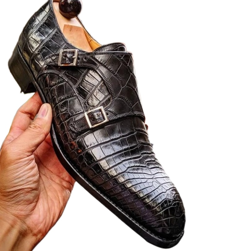 Туфли мужские без шнуровки, ПУ кожа, повседневные стильные универсальные, классические, ручная работа, HB261