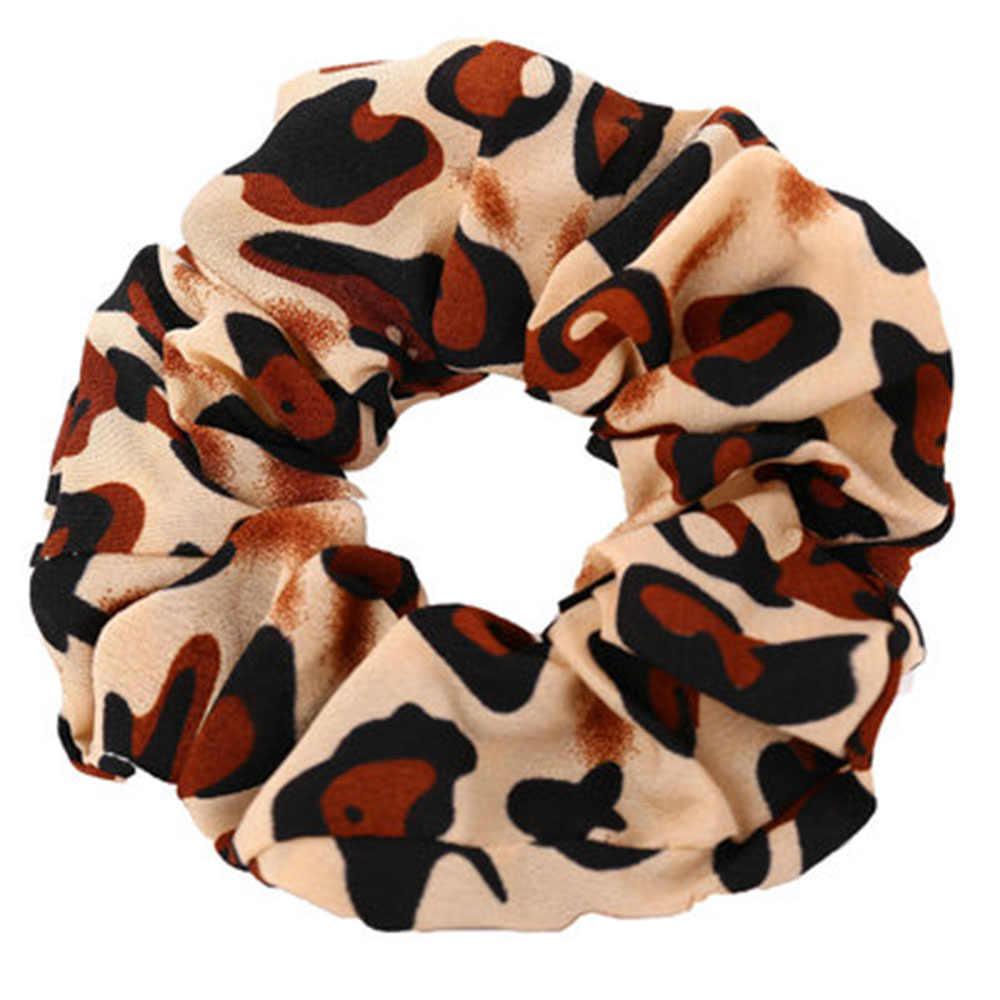 2019 Baru Fashion Leopard Tempat Coral Elastis Rambut Bandana Wanita Rambut Scrunchie Karet Band Rambut Cincin Ekor Kuda Panas