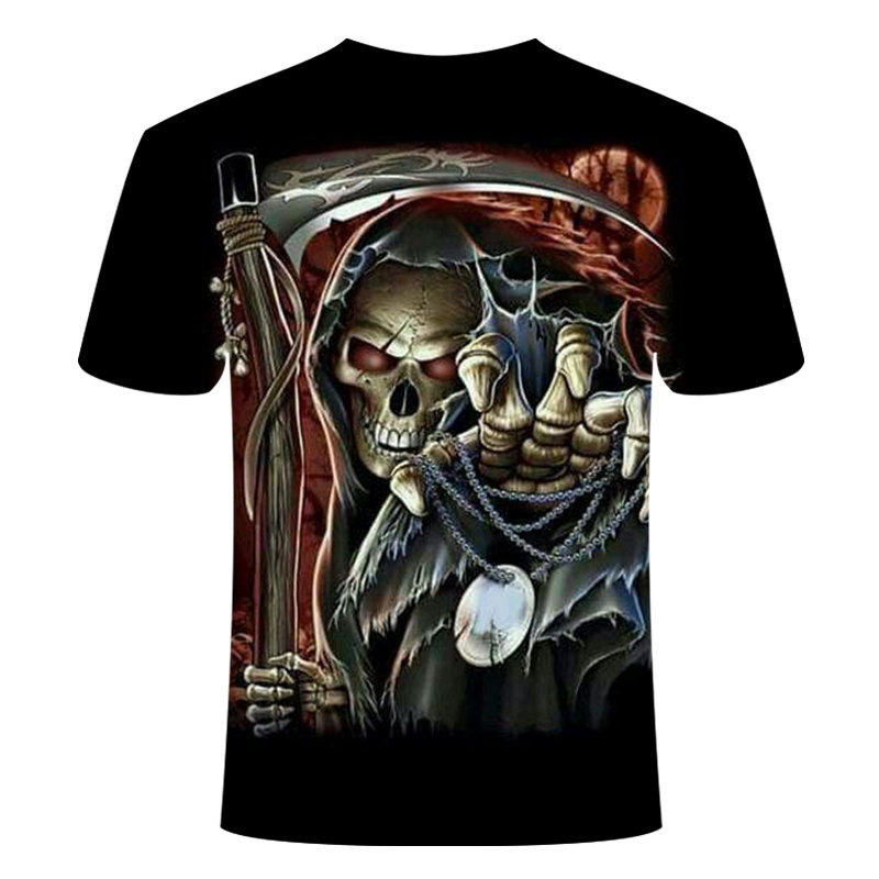 Drop Ship Summer NewFunny skull 3d T Shirt Summer Hipster Short Sleeve Tee Tops Men/Women Anime T-Shirts Homme Short sleeve tops 9