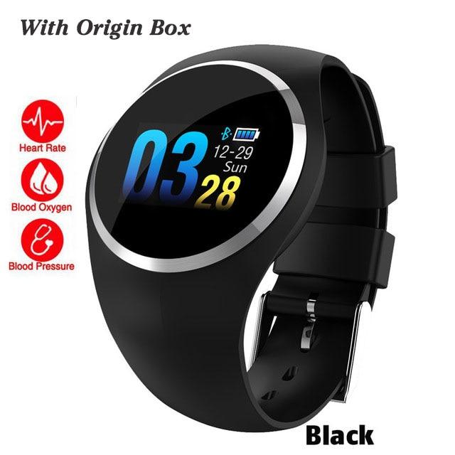 Bluetooth леди Смарт часы модные женские монитор сердечного ритма фитнес-трекер Smartwatch Приложение Поддержка для Android IOS pk Q8 Q9 - Цвет: black