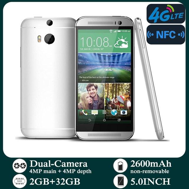 Original Smartphones M8 4G-lte Unlocked 5.0inch Android 2GB RAM 32GB ROM Cellphone 1080P 1080x1920 pixels NFC Mobile Phones 2