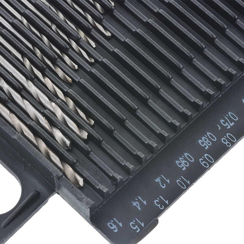 Didihou 20 pces 0.3-1.6mm hss pequeno micro broca broca de aço de alta velocidade conjunto de brocas com estojo de transporte artesanato jóias ferramenta de perfuração