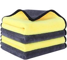 Car Wash Microfiber Towel Plush Car Drying Towel Wash Car Towel Plush Polyester Fiber Car Cleaning Cloth Sponges Cloths Brushes