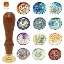 Retro sello de cera de sello de madera para Scapbooking decorativo sello de invitación de regalo tarjetas de sello sello cera