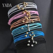 Yada подарки Кожаные плетеные браслеты и для женщин Ретро из