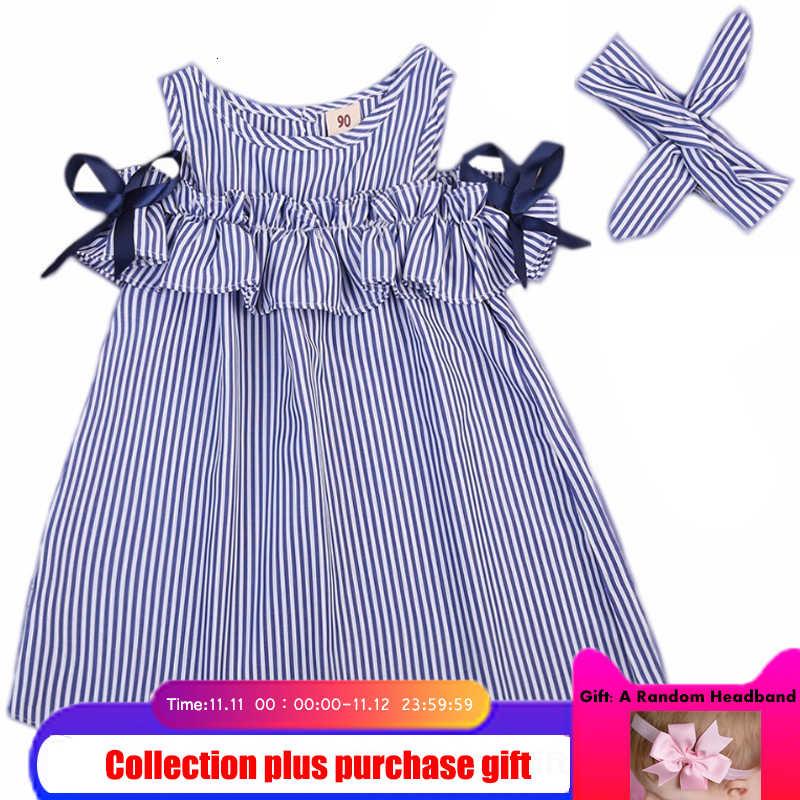 Платье без бретелек для девочек 2018 г. Новая летняя детская одежда корейские Детские платья в полоску, платье принцессы для крупных детей