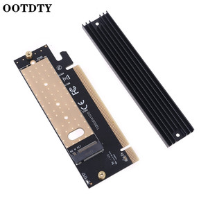 Add On Card M.2 NVMe SSD NG-FF to PCIE X16 Adapter M Key Interface Expansion Card Support 2230 to 2280