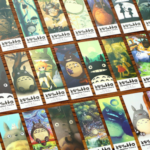 Image 5 - 6 pack/Lot Cartoon Totoro bookmark Anime paper page holder Memo card Stationery office School supplies separador de libros A6392